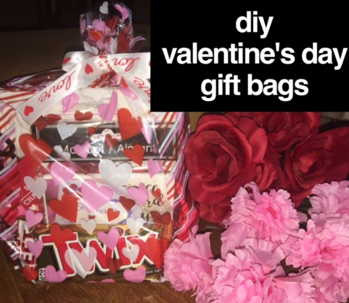 How to Create Valentine's Day Gift Bags for Your Friends (Using Dollar Tree Items!)