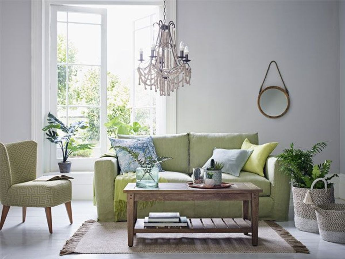 The Tiger living room should be a secret garden. Add plants, add items in green, and add images of spring.