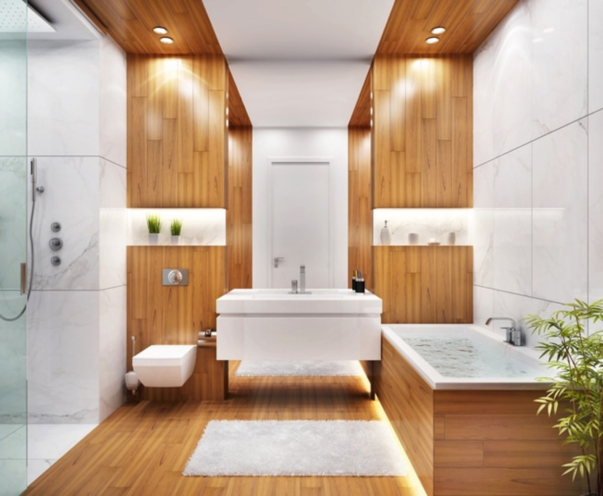 A bathroom dedicated to bamboo will fit perfectly for someone born in the Year of the Tiger.
