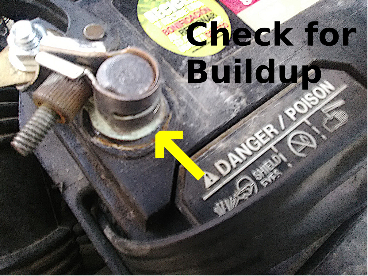 Buildup around battery posts may be a sign of battery overcharging.