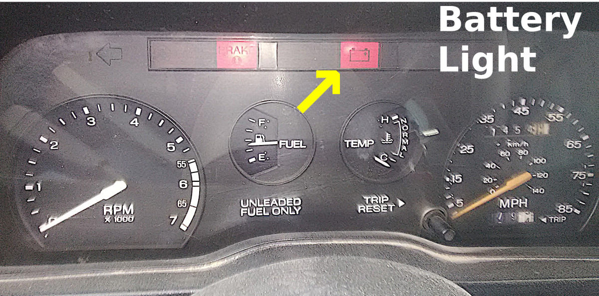 An illuminated battery light on your dashboard is a common sign of charging system or battery problems.