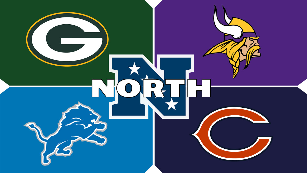 The NFC North consists of the Green Bay Packers, Minnesota Vikings, Chicago Bears, and Detroit Lions.