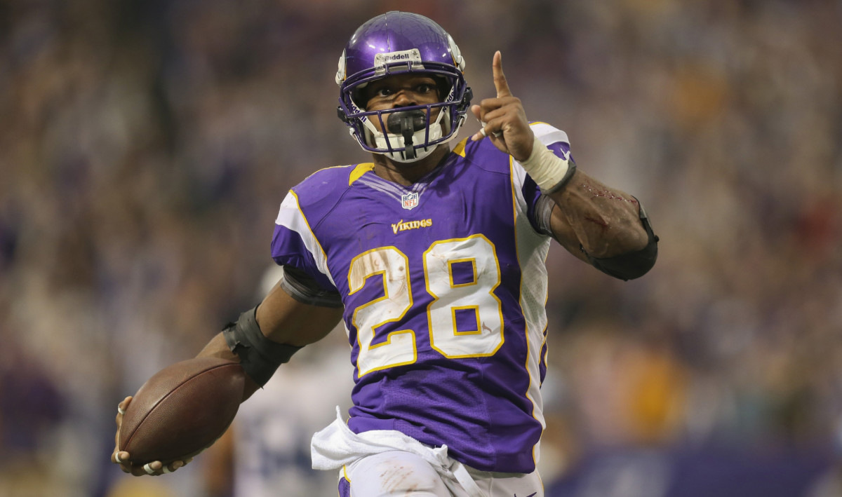One of the greatest Vikings of all time Adrian Peterson played with the team from when he was drafted by them with the 7th pick in the 2007 draft until 2016.