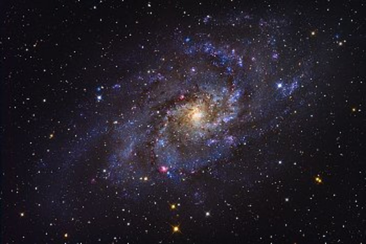 Figure 1. Triangulum Galaxy. Finding Cepheid variables in several spiral nebulae, including Triangulum Galaxy, Edwin Hubble realized that those nebulae are galaxies.