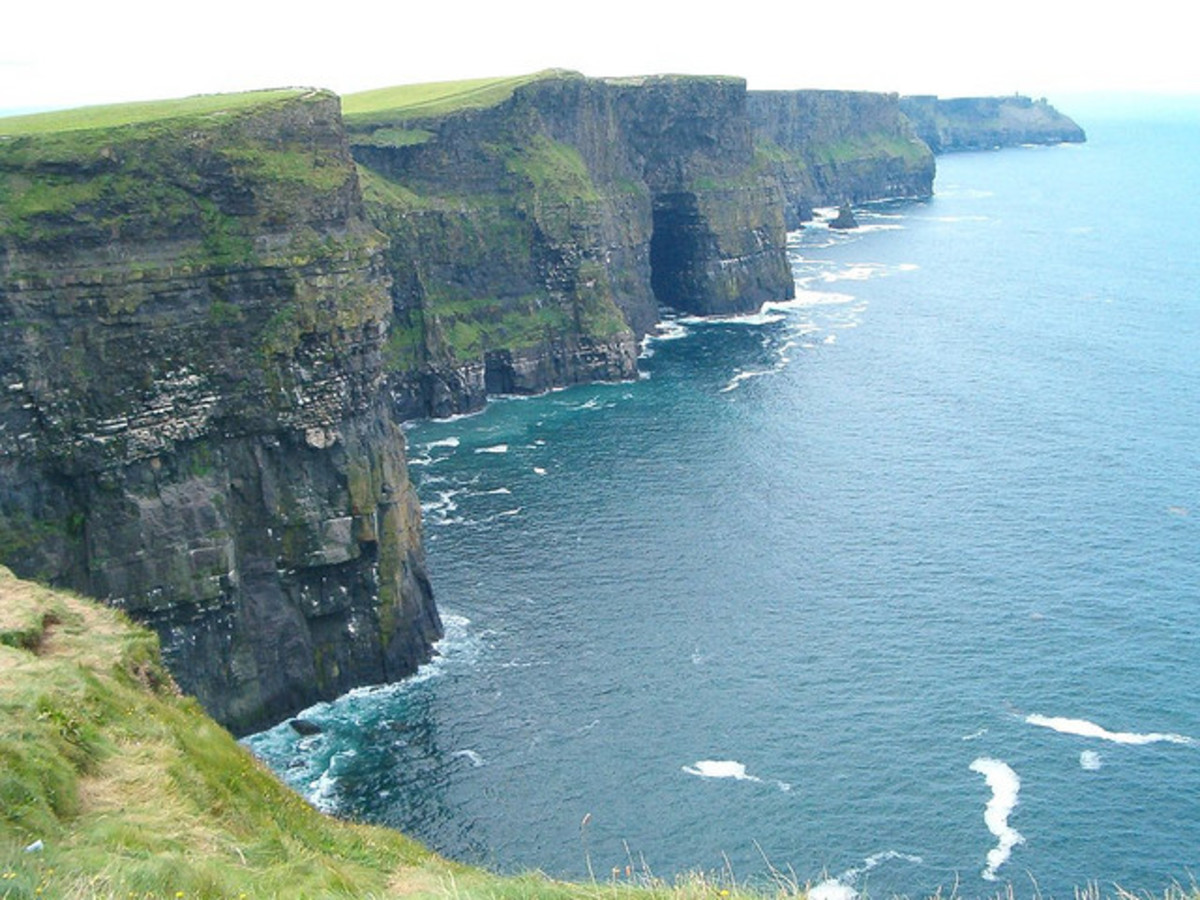 "The name of the cliffs is derived from the Irish words 'Aillte an Mhothair' , which means ""cliffs of the ruin."""