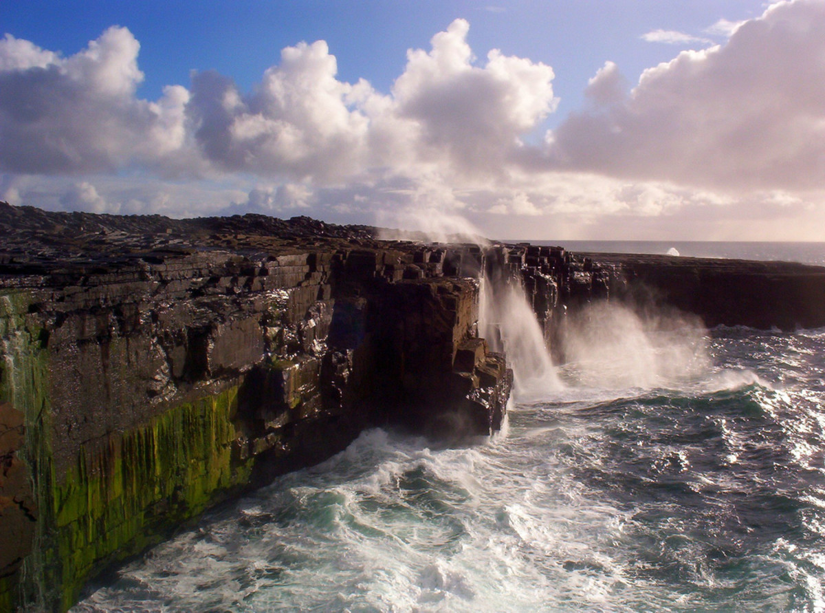 The cliffs of south Inis Mein