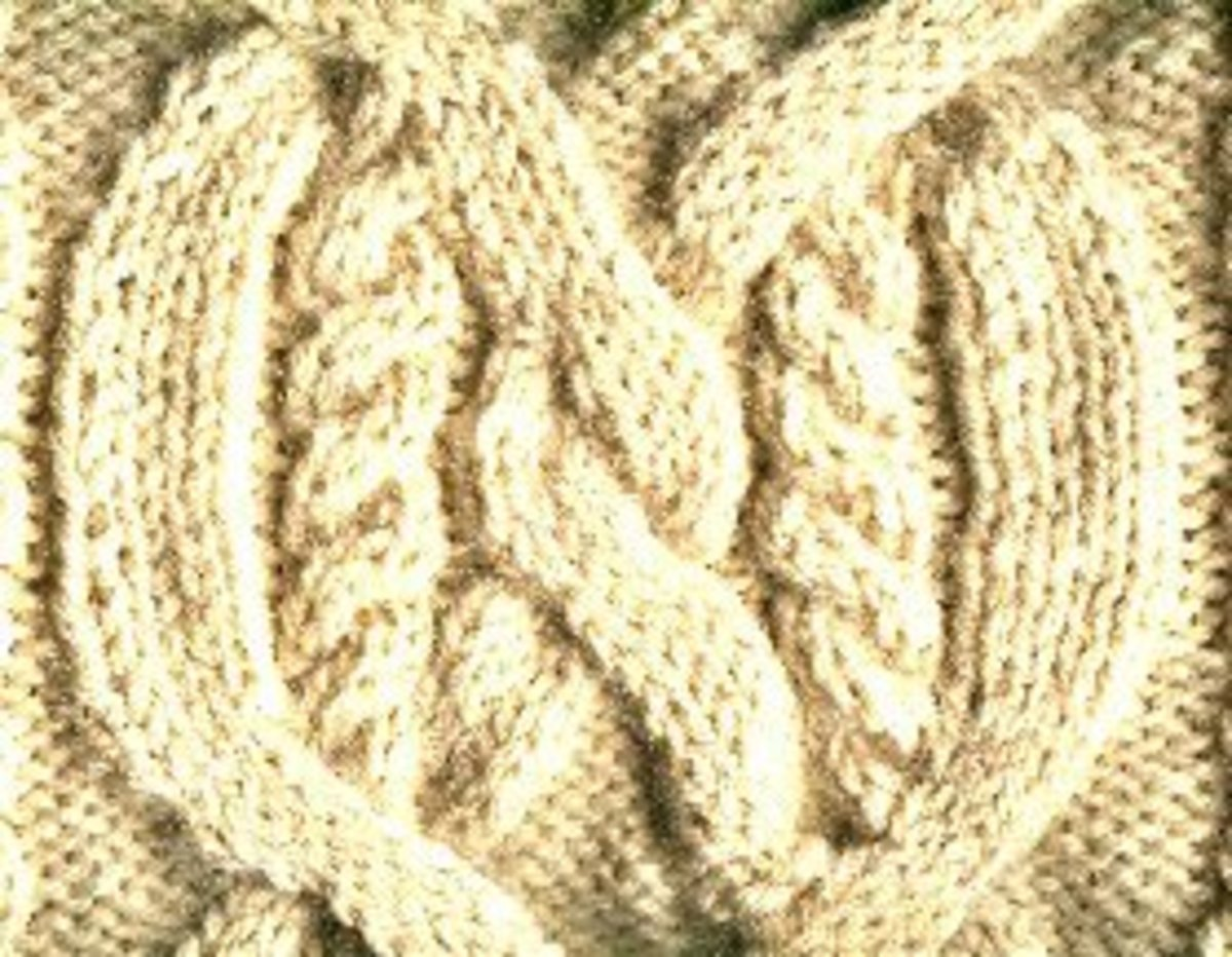 The wide multi-cable stitch is one of the most complex types of stitches found in Aran sweaters