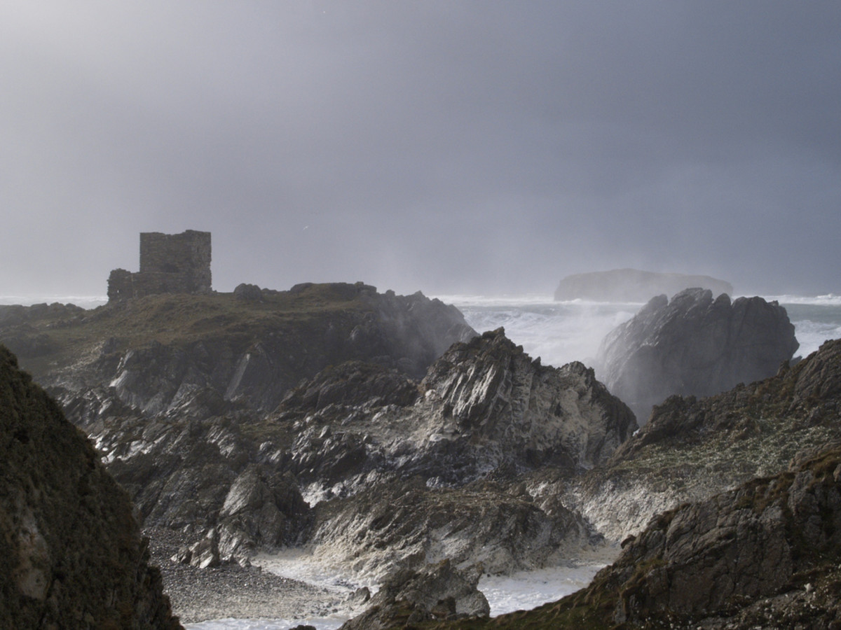 An Atlantic storm off the western coast of Ireland