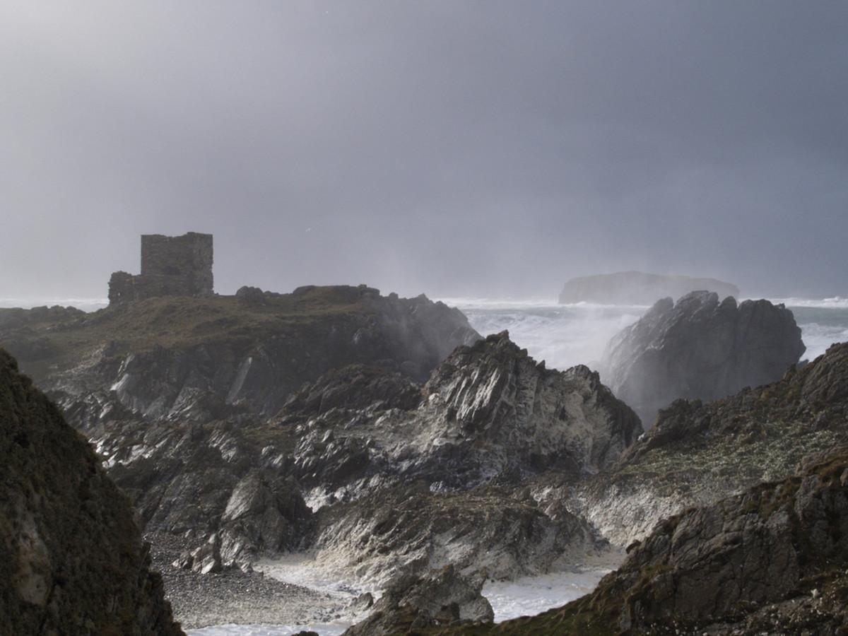 An Atlantic storm off the western coast of Ireland