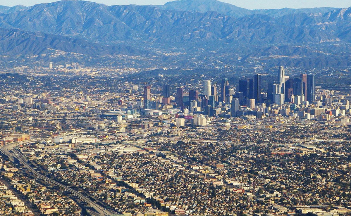 Los Angeles on a clear day