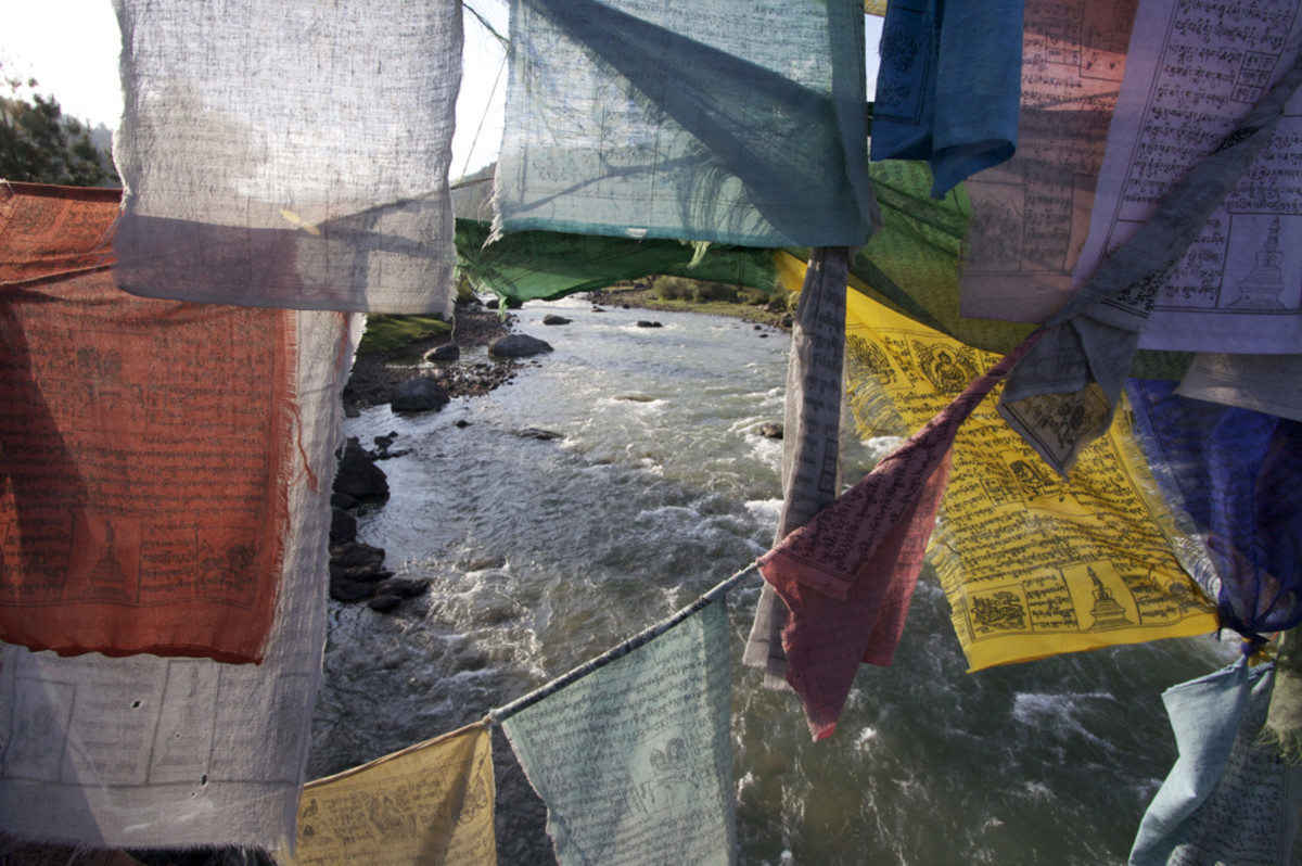Prayer flags in Jakar, Bumthang province