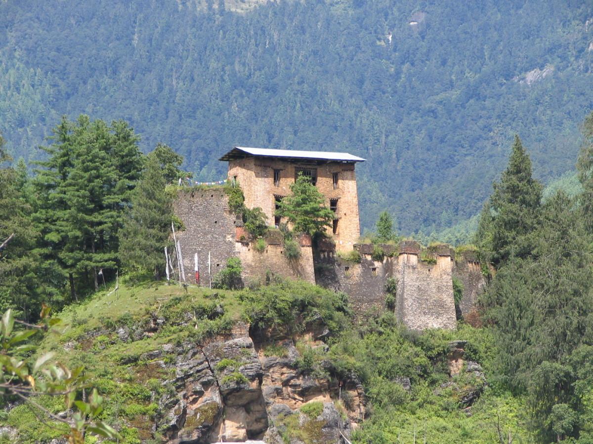 The beautiful ruins of Drukgyel Dzong, Bhutan
