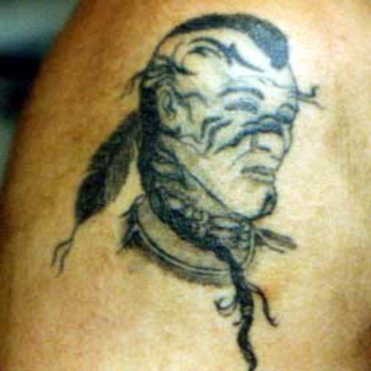 Haunting american indian tattoos for Native american warrior tattoos