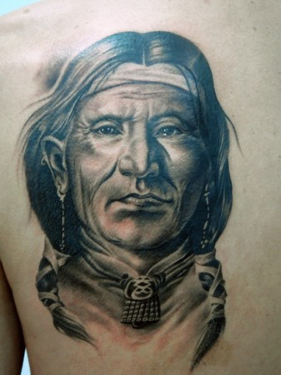 haunting american indian tattoos. Black Bedroom Furniture Sets. Home Design Ideas