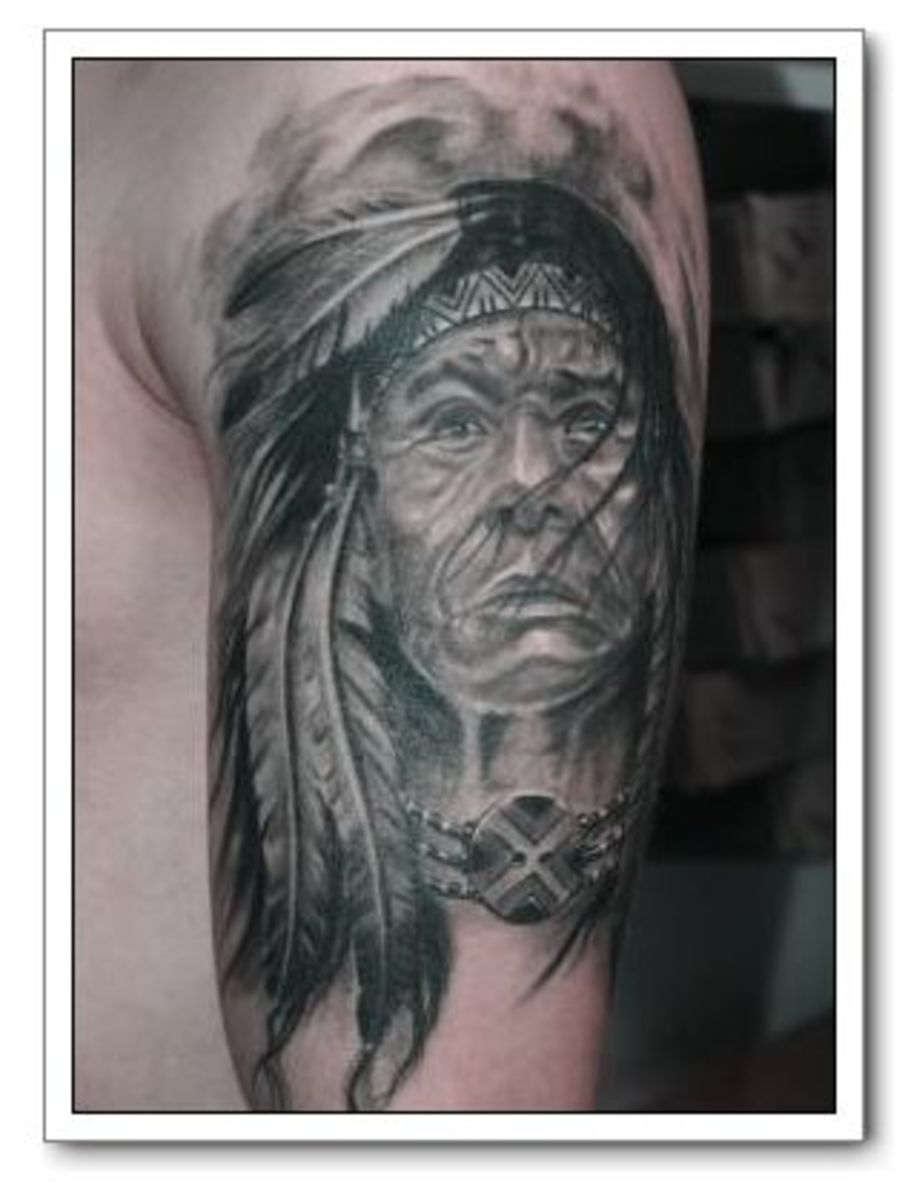 Haunting American Indian Tattoos