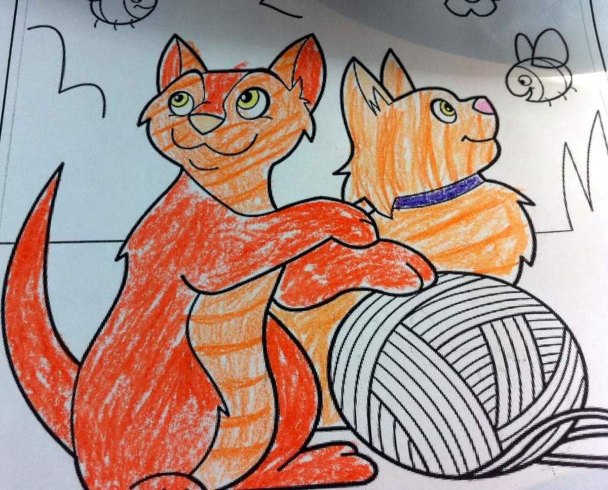 A picture my sister colored - Chip (on the left) and his sister Nilla.