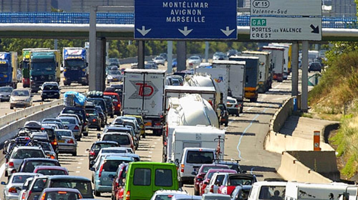 Heavy traffic in France can be stressful, especially if you are unfamiliar with French driving laws.