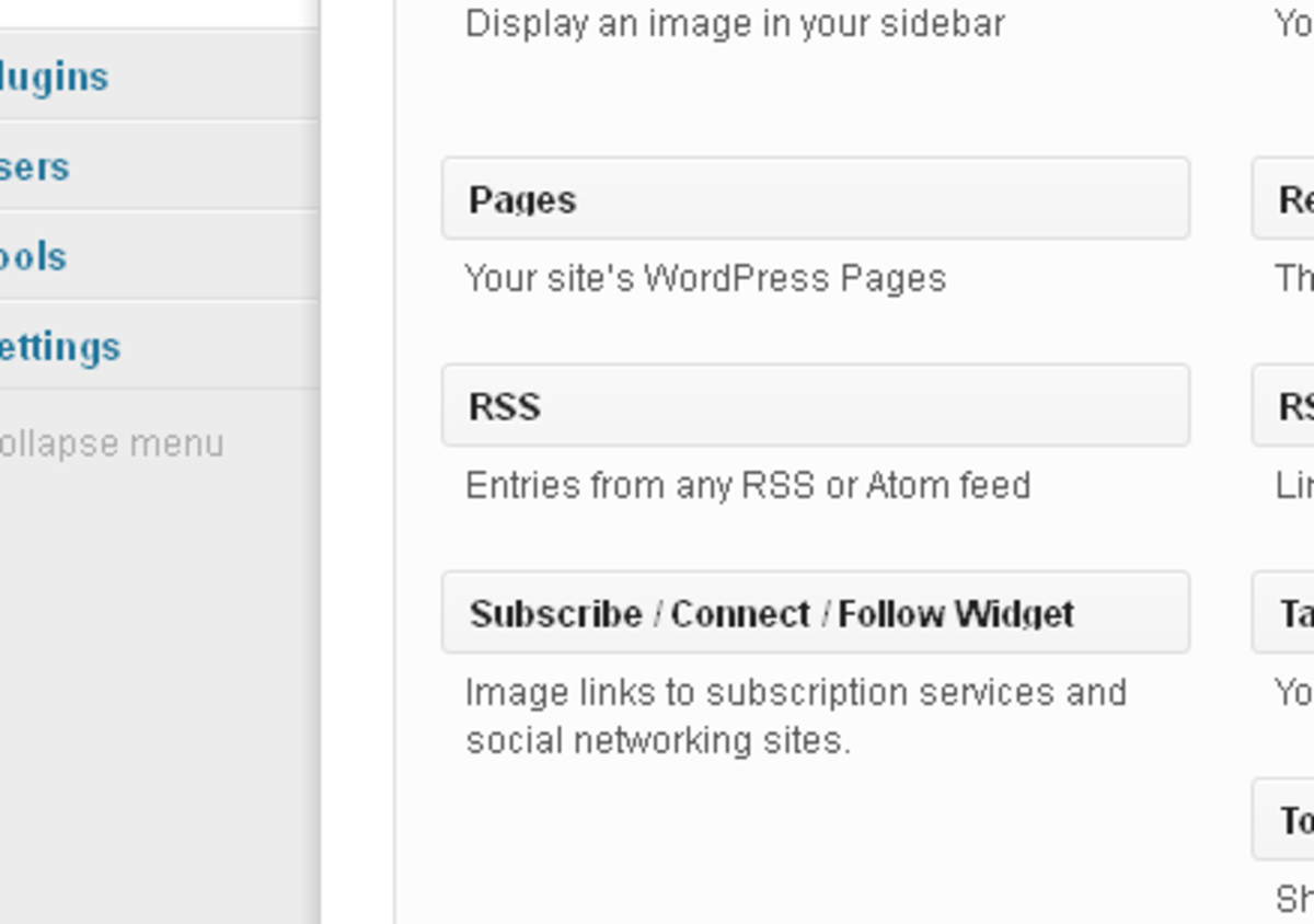 There's the RSS widget!