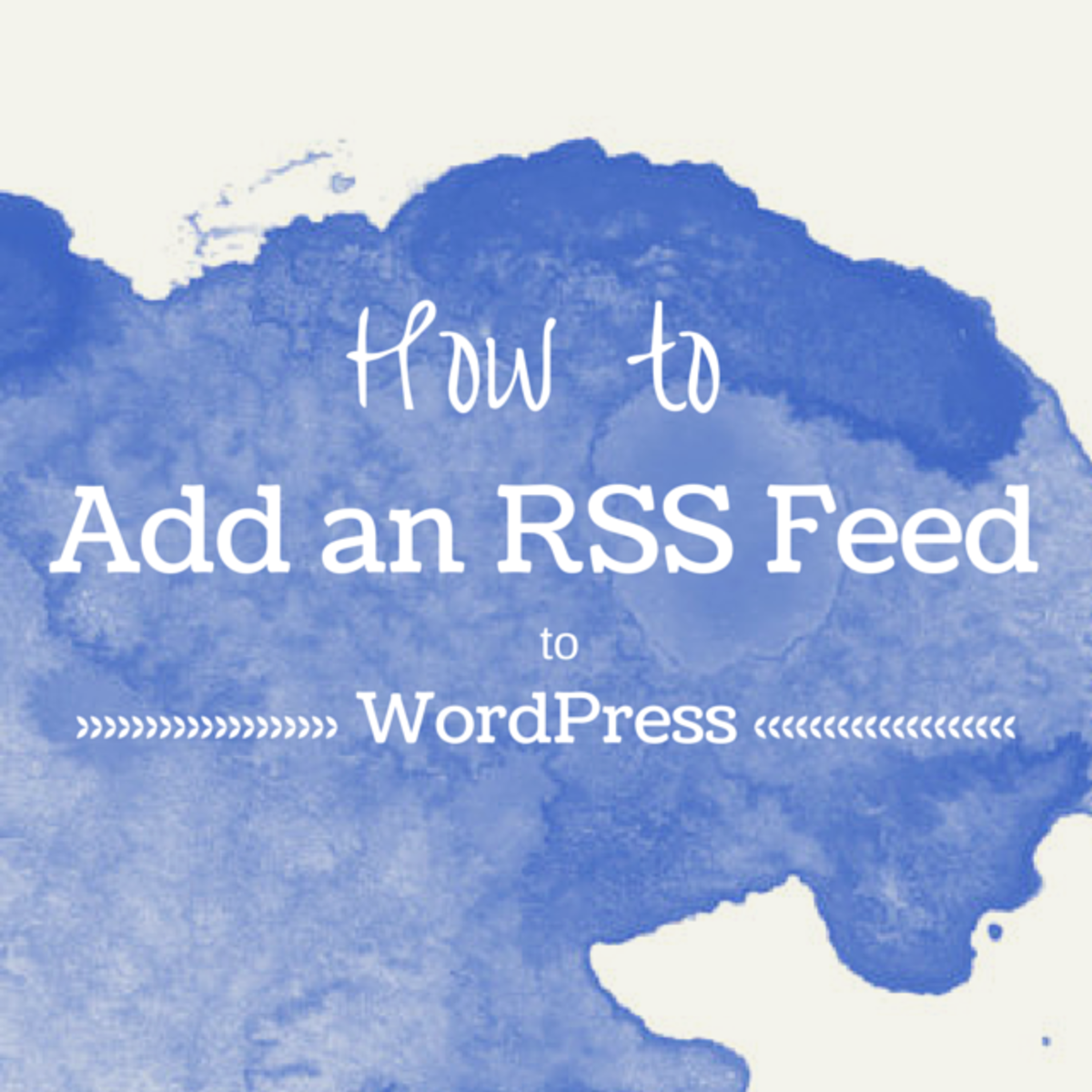How to Add an RSS Feed to a WordPress Blog