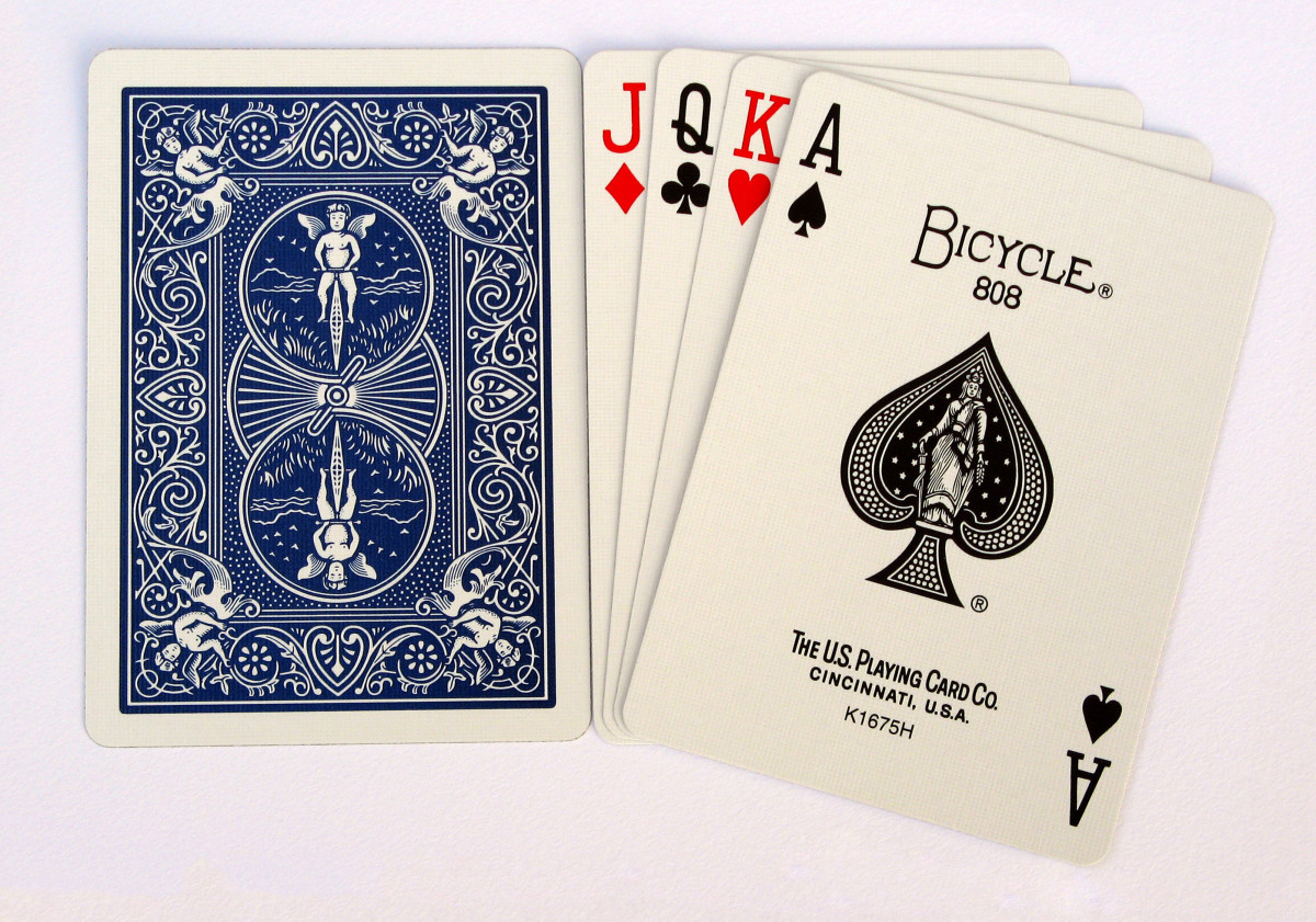 The Ace in the deck exemplifies the element represented by its suit.  In this case The Ace of Spades represents Air.