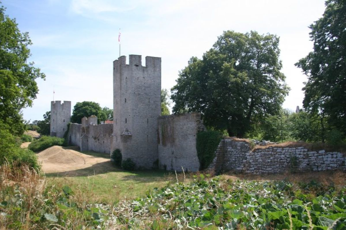 The wall at the north gate of Visby