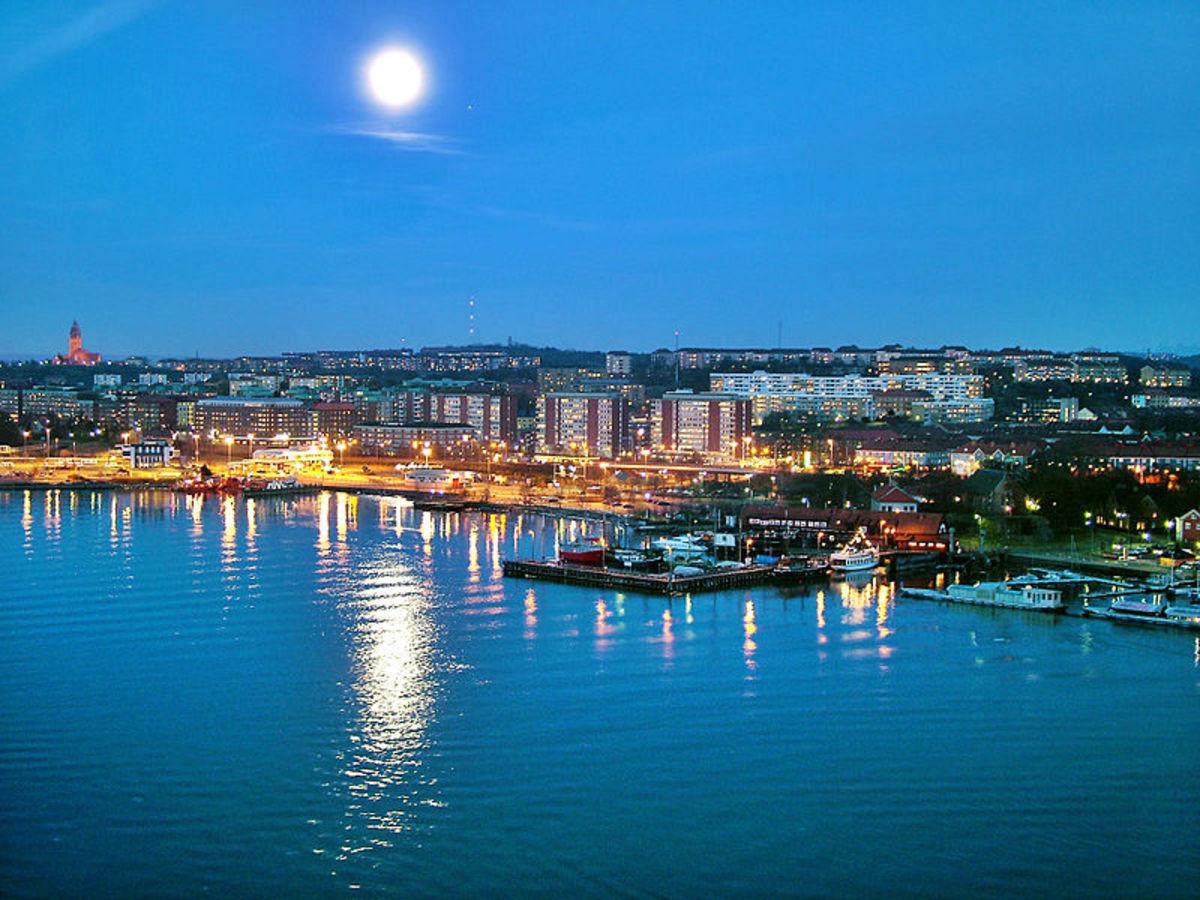 The city of Göteborg from Älvsborg bridge