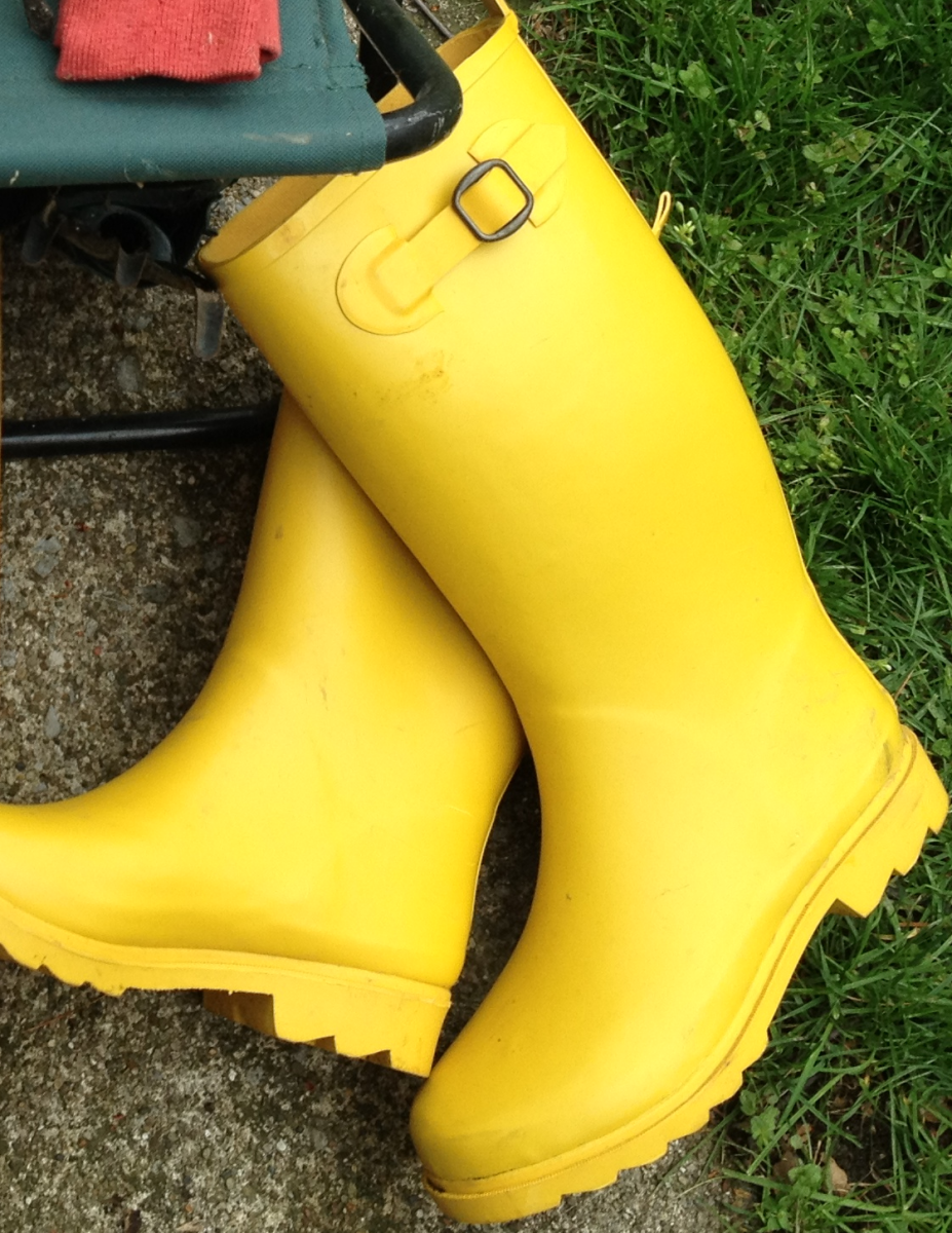 A pair of rubber boot will last you forever.