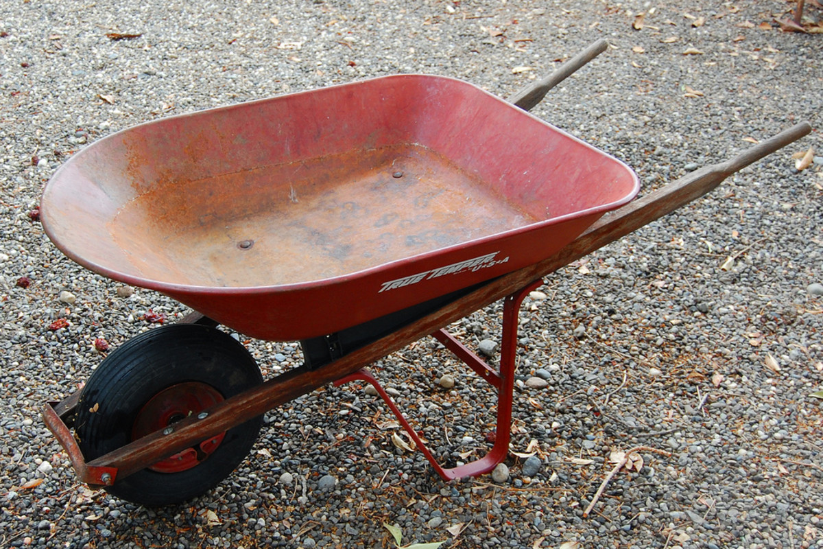 A wheelbarrow can help you accomplish a lot!