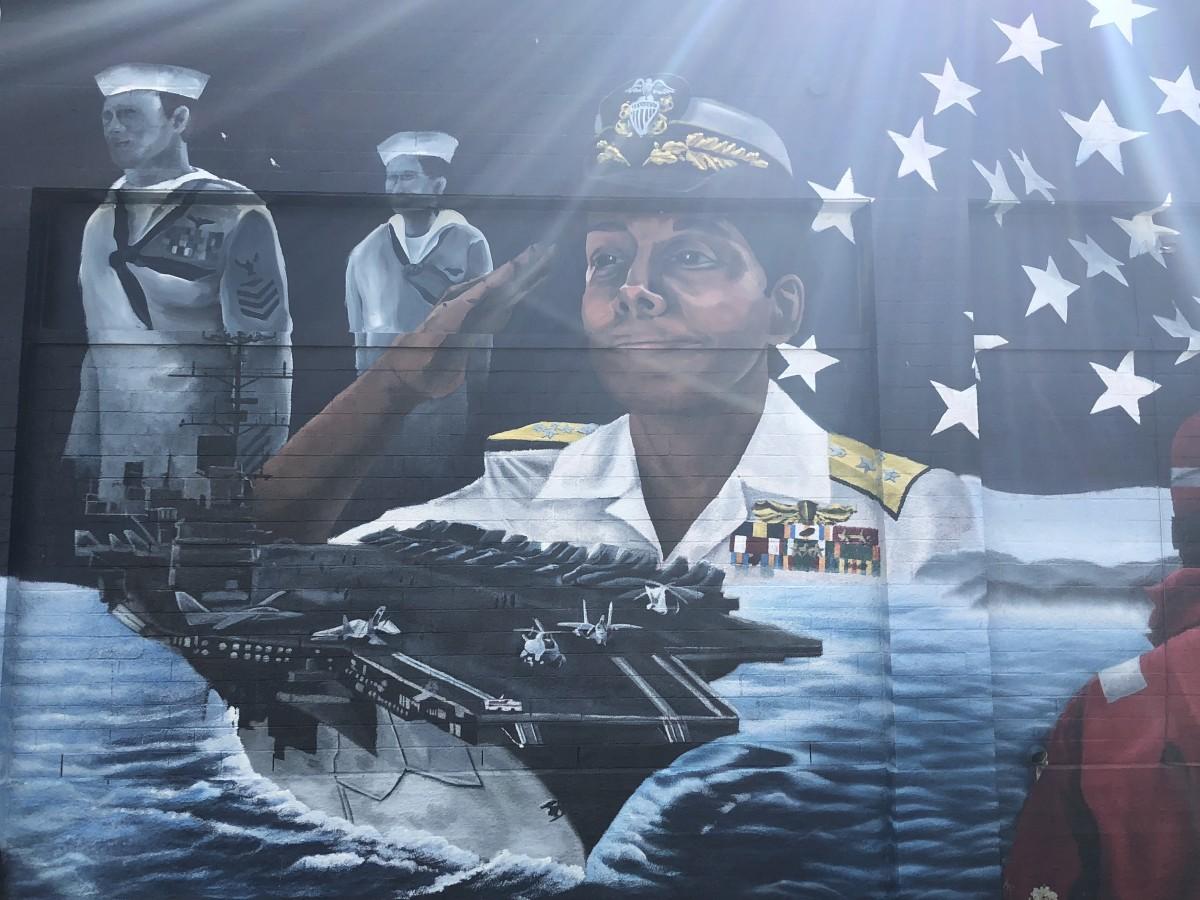 Patriotic Memorial Mural, Frame 4