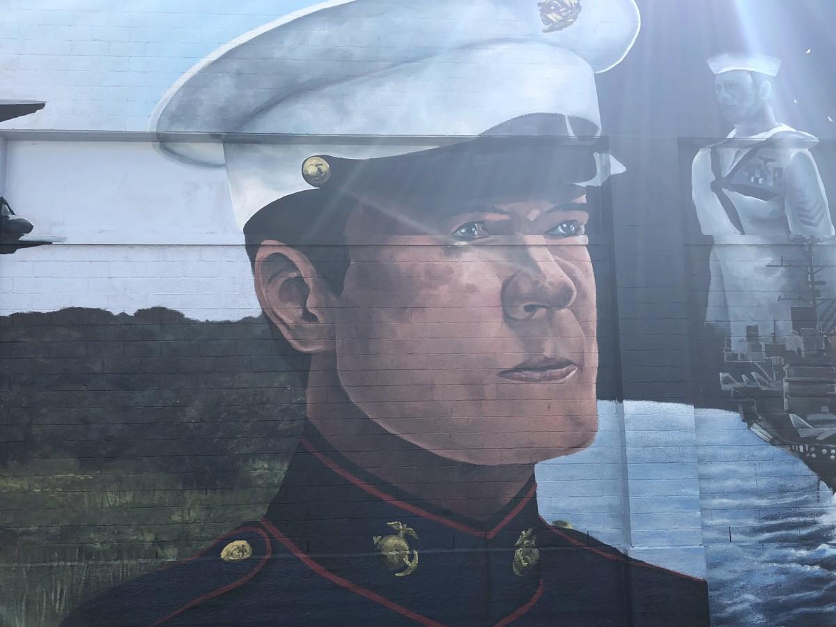 Patriotic Memorial Mural, Frame 3