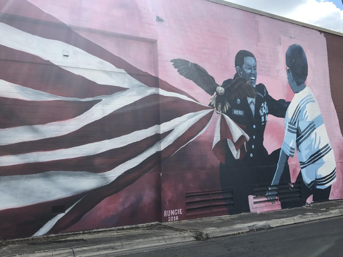 Patriotic Memorial Mural, Frame 6