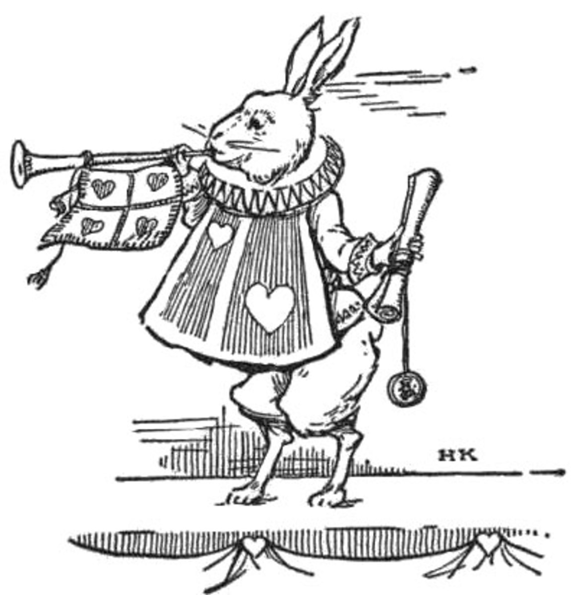 "From Alice In Wonderland. ""The Rabbit of Hearts"", so to speak."
