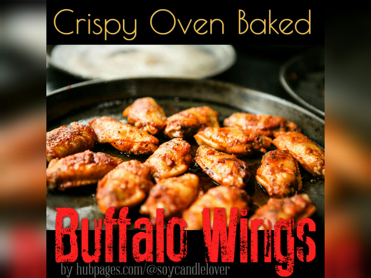 Crispy Oven Baked Buffalo-style Chicken Wings