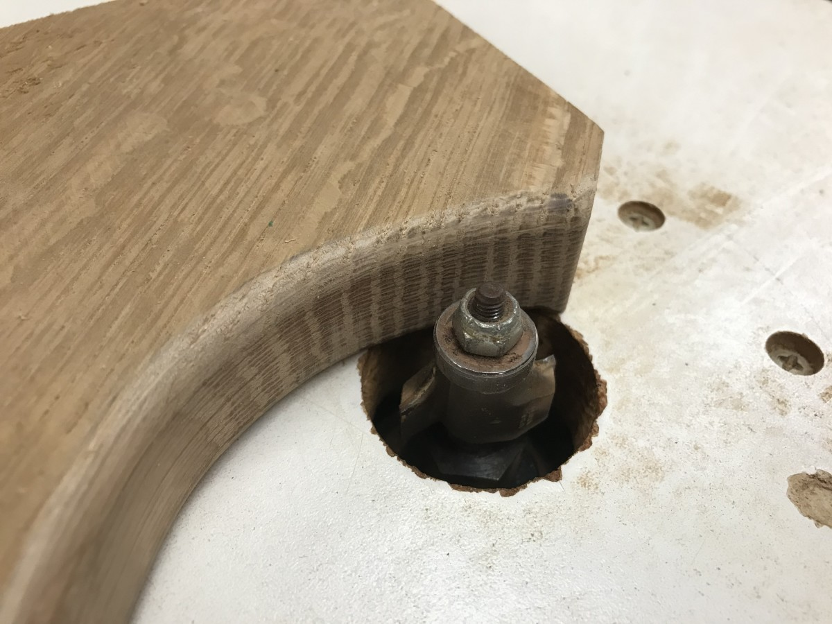 "Soften the edges with a 3/8"" round over router bit"