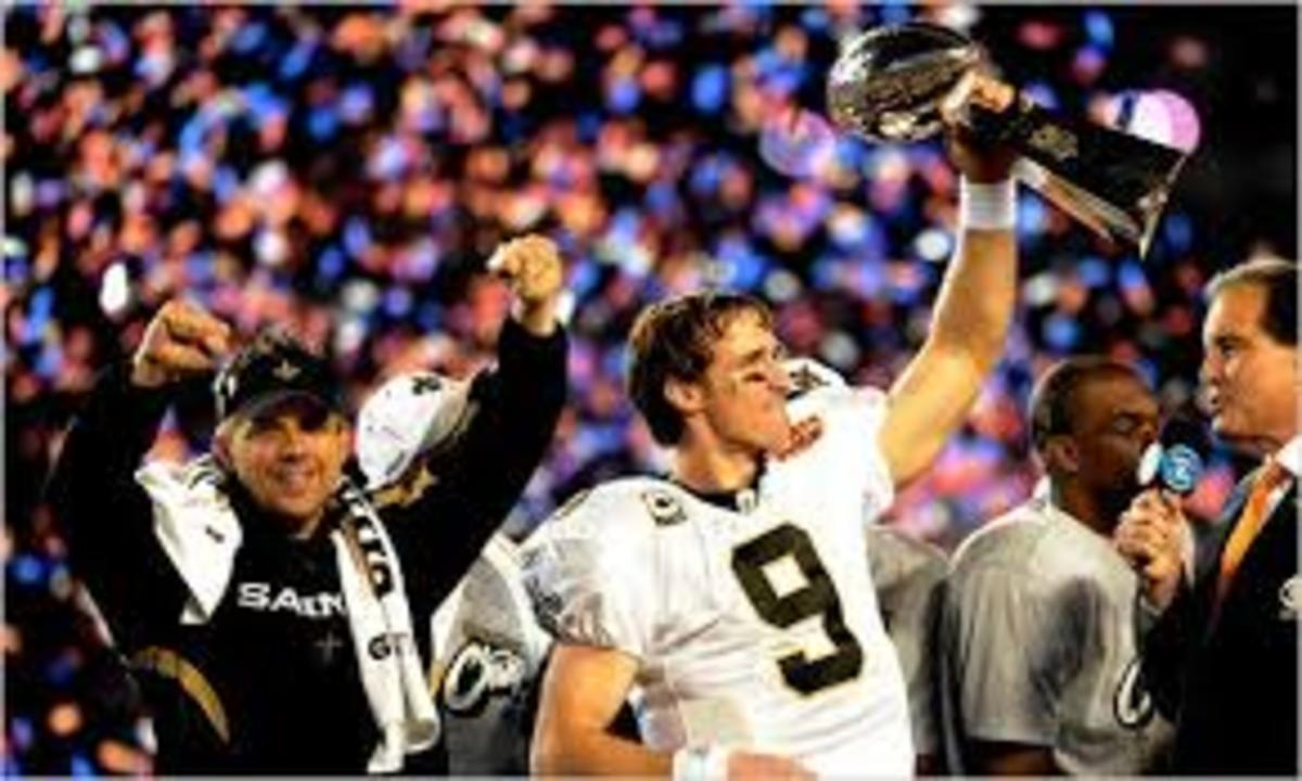 The New Orleans Saints defeated the Indy Colts in Super Bowl XLIV.