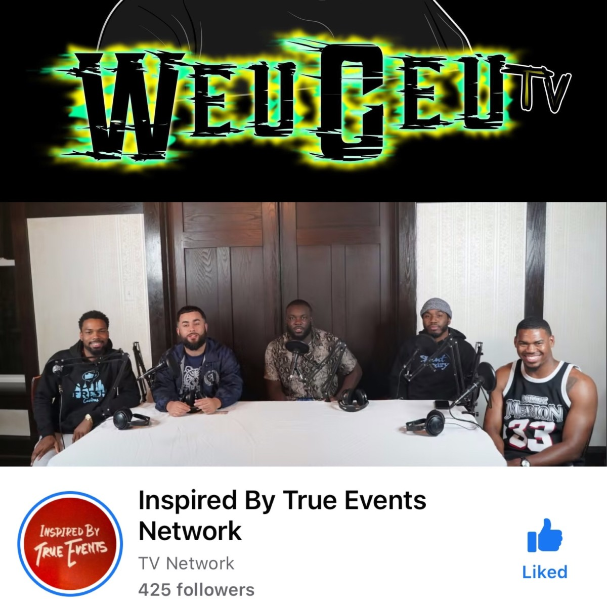 Lawrence's (in the middle of photo) gaming channel has 1.3k followers and Inspired by true events has 425 followers on facebook and growing on different social media platforms.
