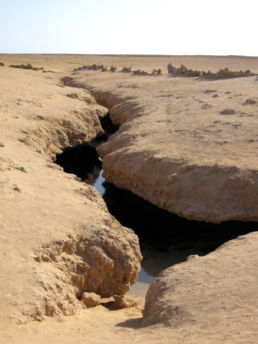 Underground water groove in Ras Muhammad National Park