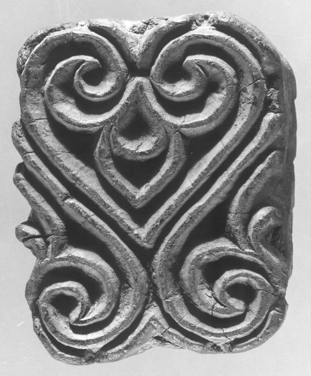 Textile printing block.  Date: 10th-century.  Geography: Egypt Culture: Islamic Medium: Wood; Carved.