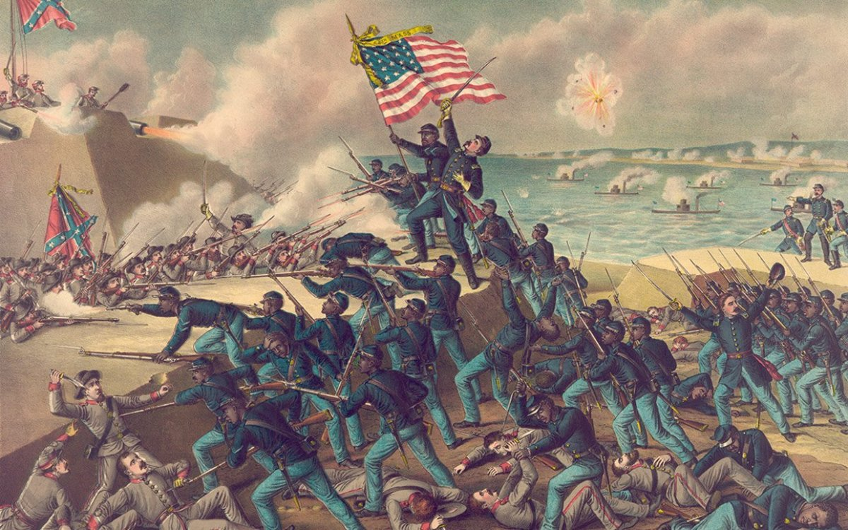 Painting of Battle of Fort Wagner