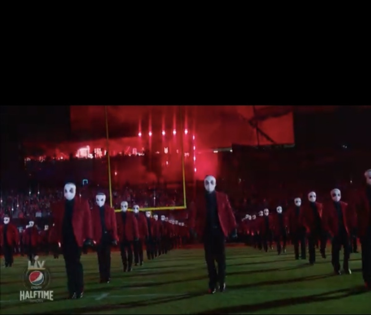 The Weeknd Performs Demonic Super Bowl Half Time Show