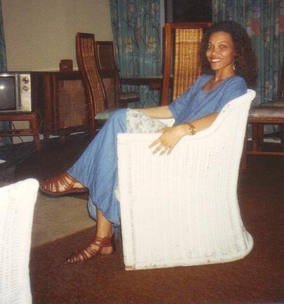 Photo taken in 1992.  I had always had long hair.