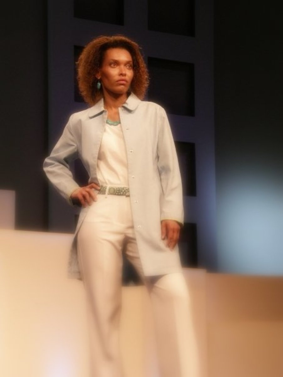 Photo taken around 2005 during a fashion show.  Although my hair was a little shorter, it still showed a full head of curly hair.