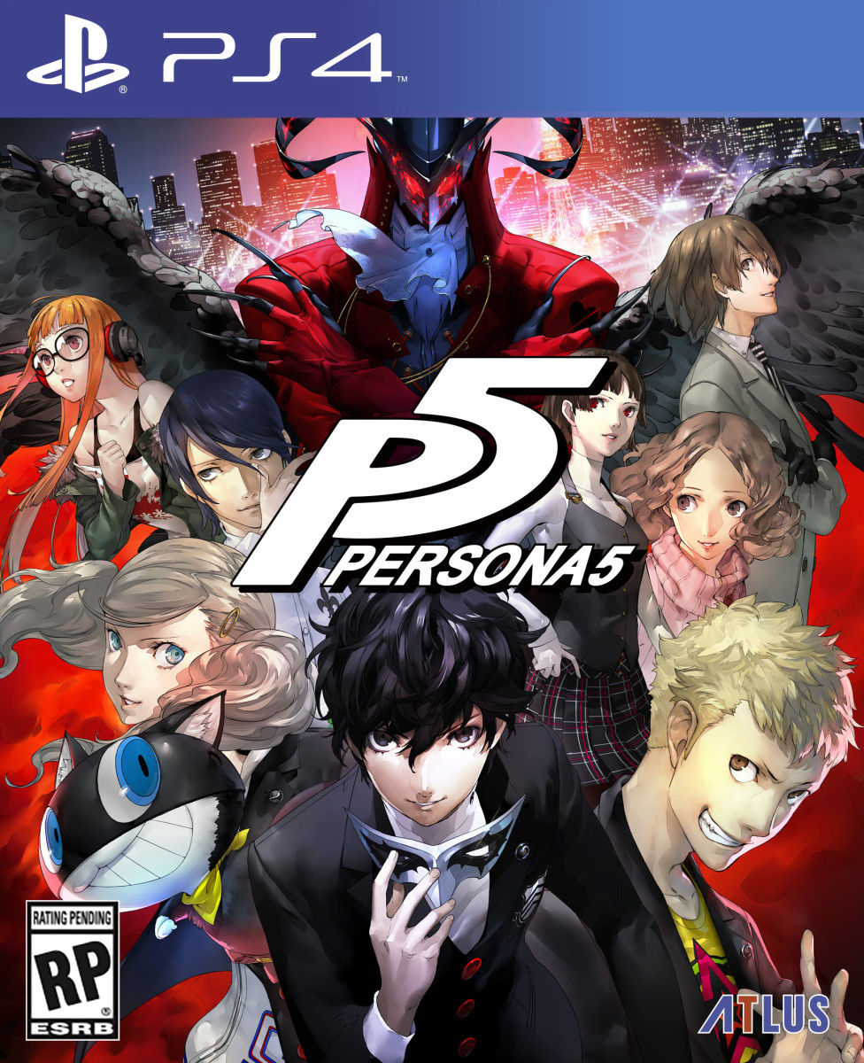 "The official ""Persona 5"" cover for the US PlayStation 4 release."