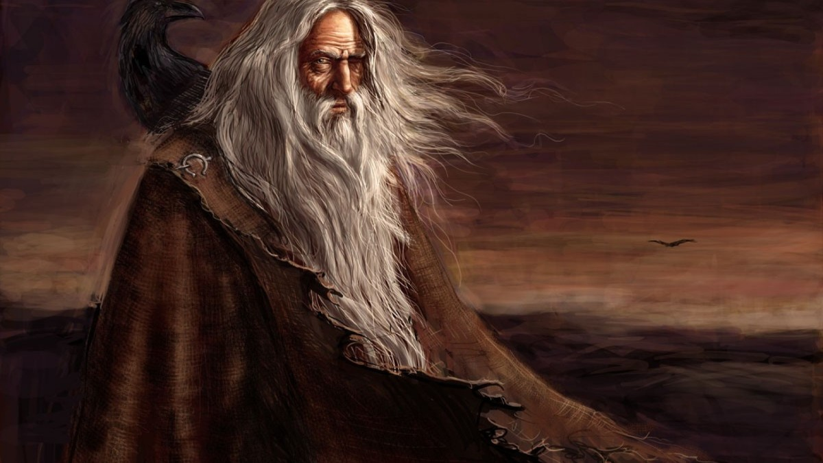 Odin the wanderer make an appearance to King Hrolf as a woodsman who gives shelter to him and his men on their way to Adhils' hall