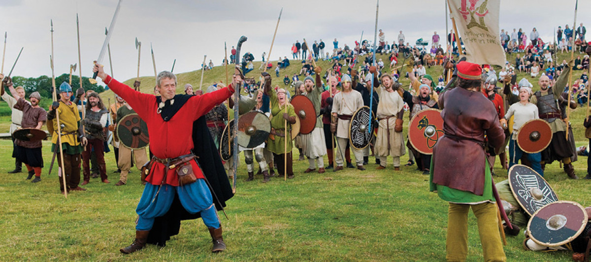 Viking assembly - 'Folketing' - a law-speaker summons witnesses to a hearing