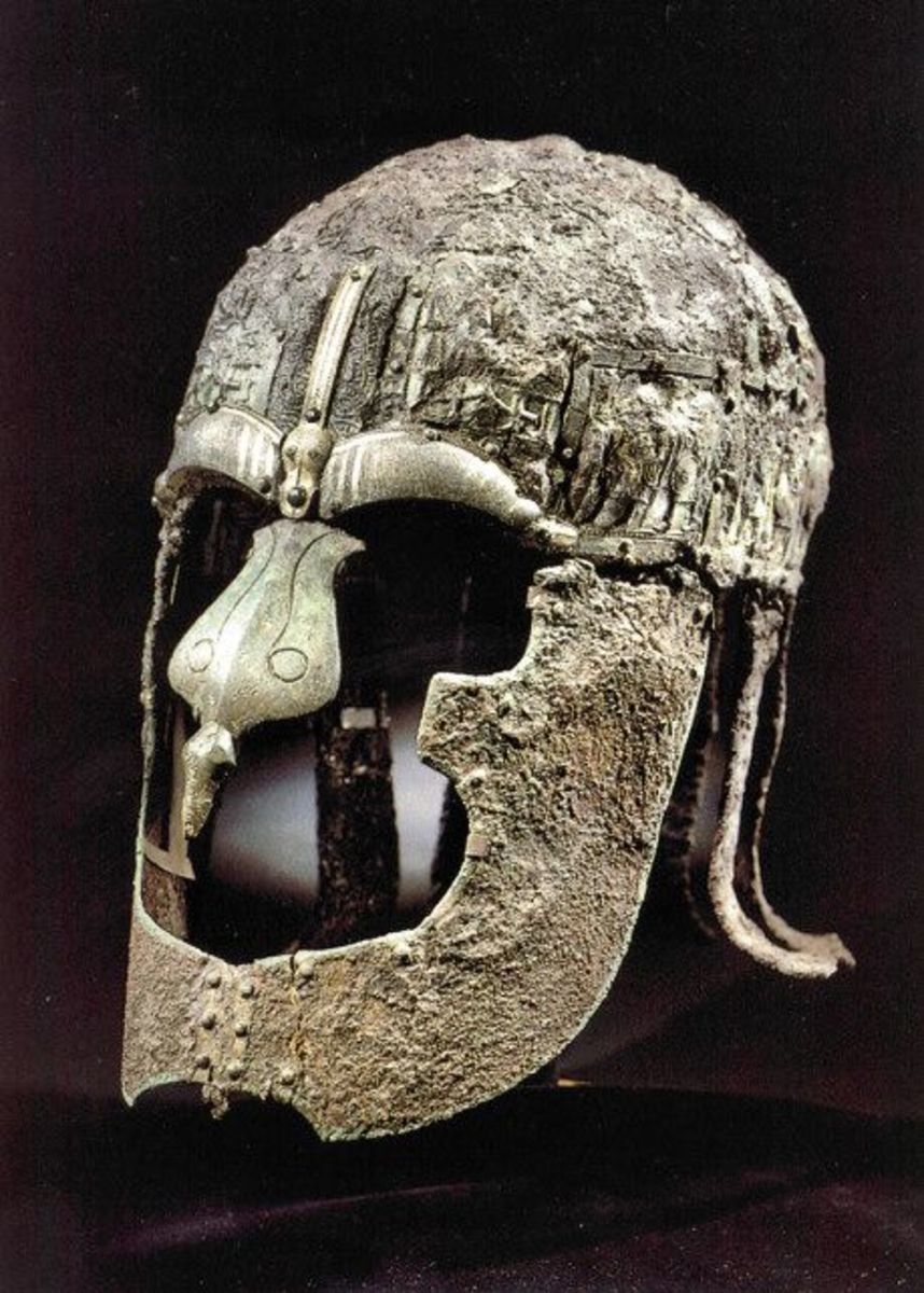 Vendel helm from near Uppsala, north of Stockholm Sweden - a classic of its day, worn by a king or nobleman at the very least