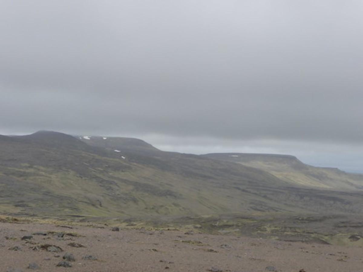 Kiska's forbidding landscape.