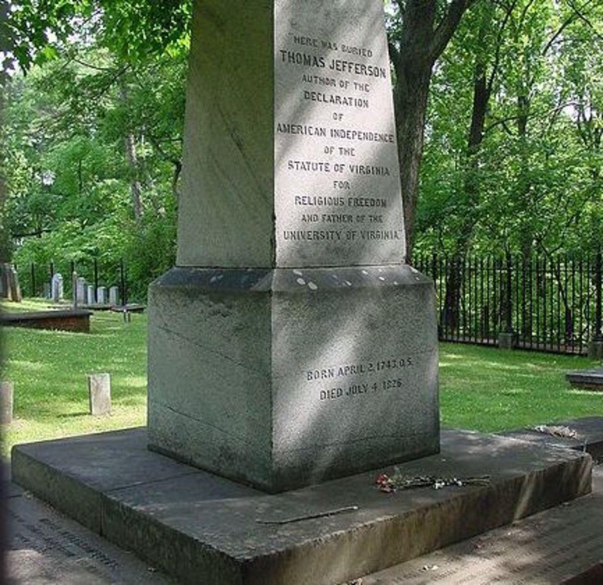 Jefferson's gravesite