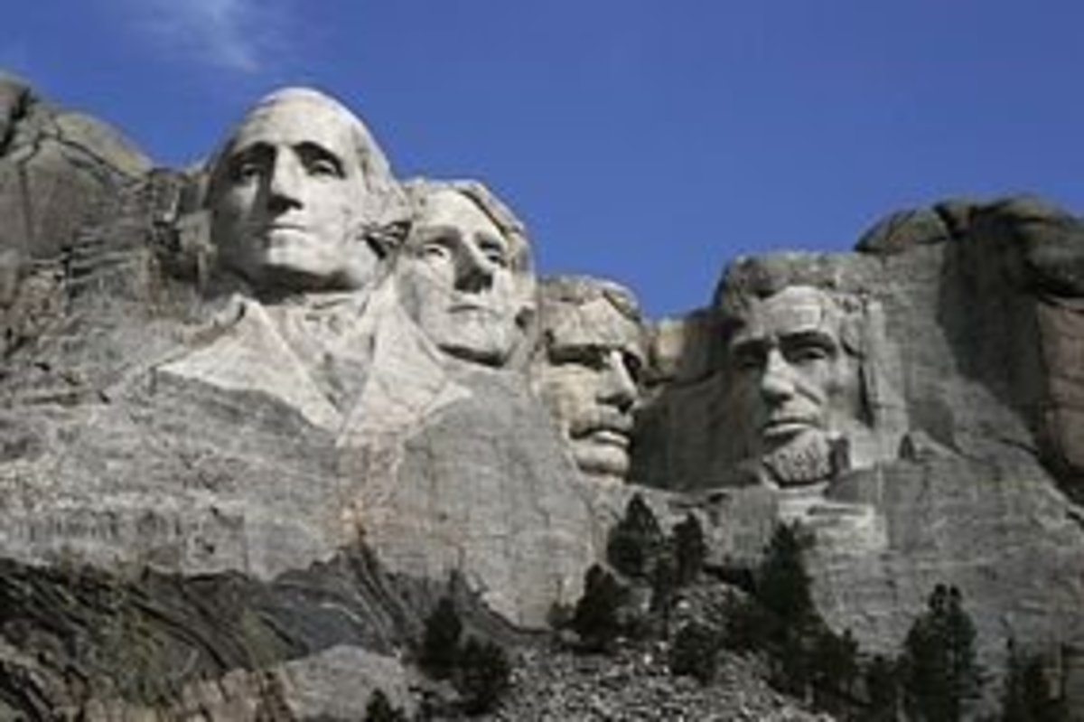Mount Rushmore in South Dakota featuring President Thomas Jefferson
