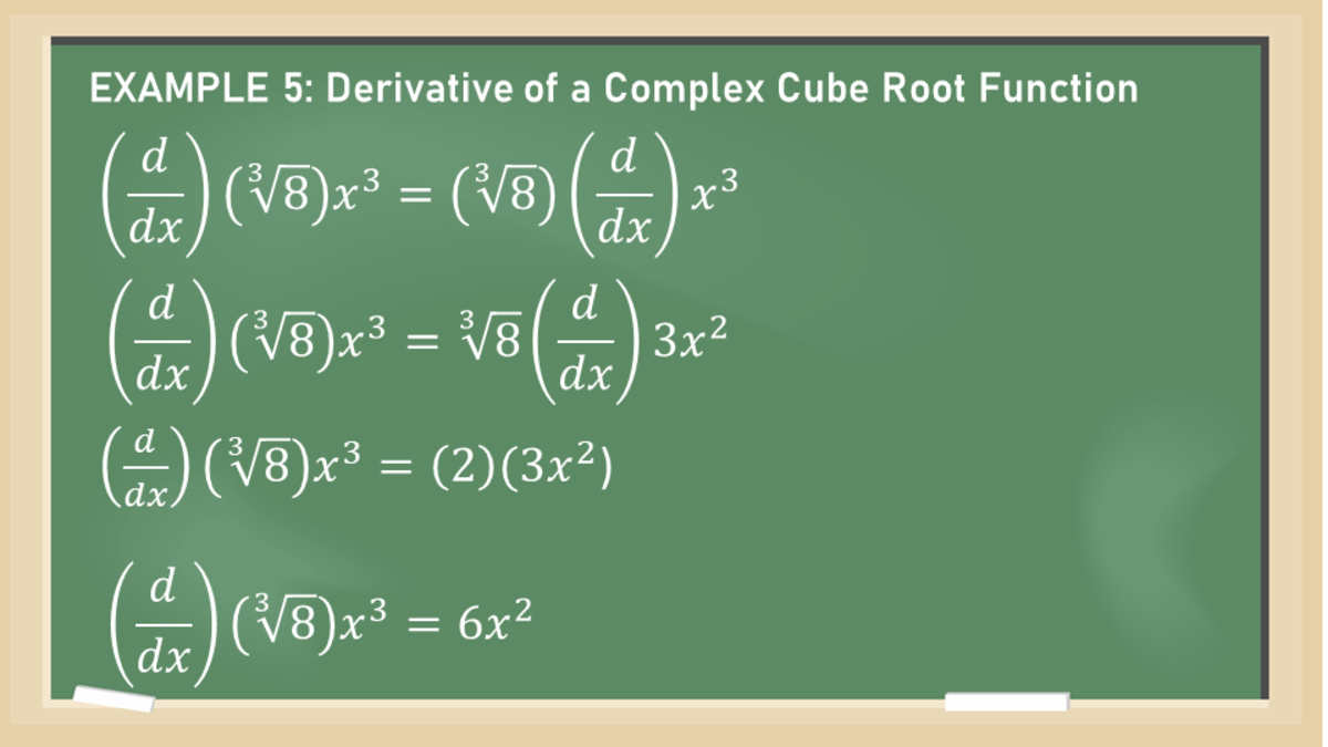 Constant Multiple Rule: Derivative of a Complex Cube Root Function